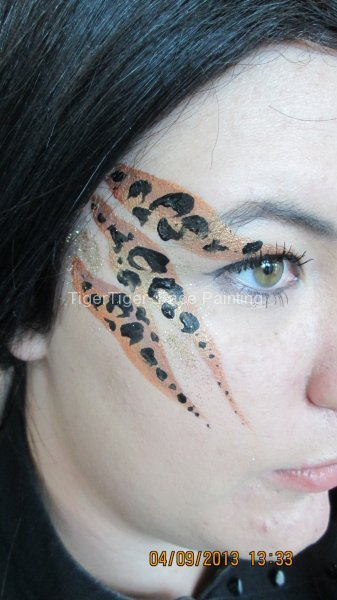 zoo project face painting leopard design