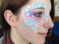 adult face painting eye flowers design