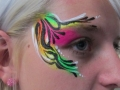 face art uv leopard print