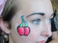 student face art burlesque cherries