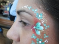 student face painting flowers design
