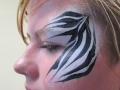 zoo project face painting, zebra stripes