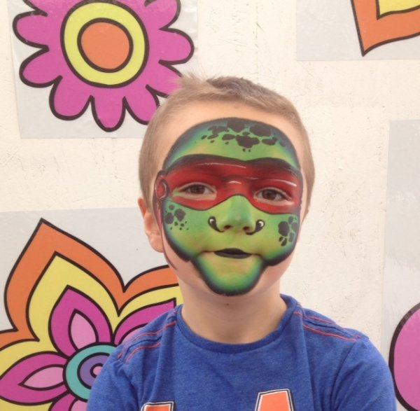 ninja turtle face painting