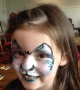 sparkly cat face paint