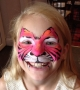 pink tiger face paint