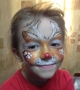 rudolph face painting