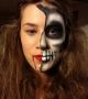beautiful skull halloween face painting