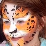 leopard face painting, lancashire