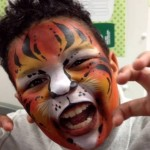 tiger face painting in manchester