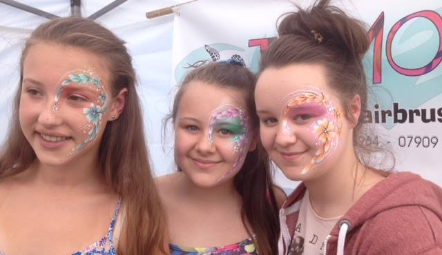 face painting in cheshire, festival flowers face painting