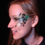 night club face painting, festival face painting, adult face art