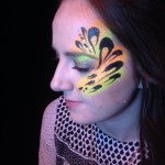 uv face painting, adult face painting, night club zoo project