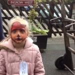paddington face painting, face painting  yorkshire, keighley and worth valley railway