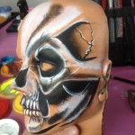 skull face painting lancashire, tigertiger face painting