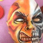 monster face painting, skull face painting, manchester
