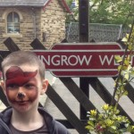 paddington face paint, keighley  worth valley railway,  face painting in yorkshire