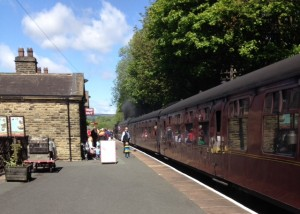 keighley and worth valley steam train