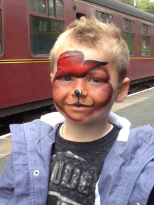 paddington face paint, face painting in keighley, face painting in yorkshire,