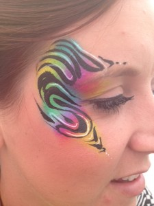 psychedelic face painting, festival face painting,
