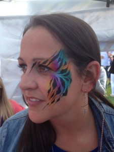 adult face paint, tiger face paint