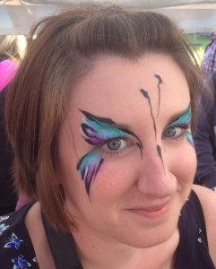 adult face painting, festival face painting, butterfly face painting