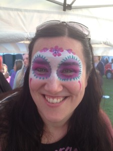 sugar skull mask face paint, adult face painting,festival face paint
